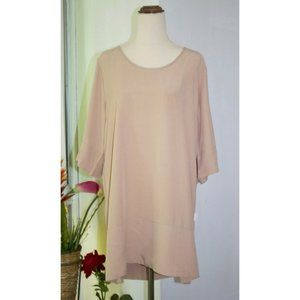 From Zion Scooped Back Tunic Top Super Buttery Soft Size XS Baby Pink